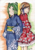OC in yukata ^-^ (Contest entry) by Spargels