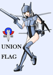 UNION FLAG GIRL by redcomic