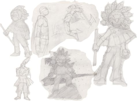Character sketches by Sarcentrox