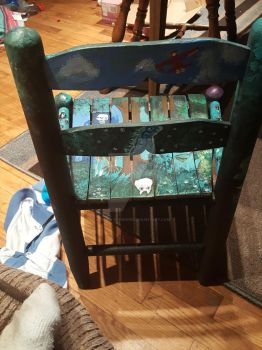 Studio ghibli themed chair by Auruka-Sunshine