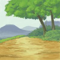 Anime-ish background study by Pharan