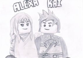 Kai and Alexa by HarmonyPond