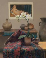 Orchid with Odalisque - Jim T. McVicker by OilPaintersofAmerica