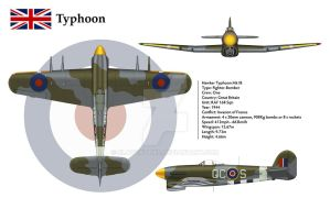 Typhoon 168 Sqn 3-View by WS-Clave