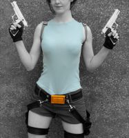 Lara Croft Cosplay Photo Manipulation by ElegantAura