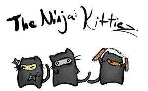 The Ninja Kitties by LaughingSkeleton