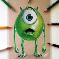 Mike Wazowski Drawing by LethalChris