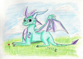 Skye the dragon  Gift for CASF by IcelectricSpyro