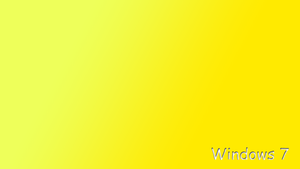 minimalist, yellow win7 by rafalmania