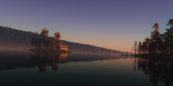 Lake at Dawn with Focus by GiulioDesign94