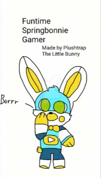 I'm cute and a plush funtime spring bonnie gamer by s1carlosreyes