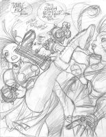 STREET FIGHTER rough 3 by AdamWarren