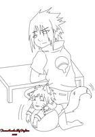 Sasuke Watches Naruto Play XD by Levi-Ackerman-Heicho
