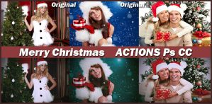 Merry Christmas    ACTIONS Ps CC by Tetelle-passion