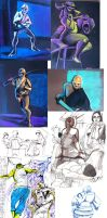 Life drawing dump by Zakeno