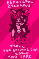 beautiful cinnamon troll by DuendeDefined