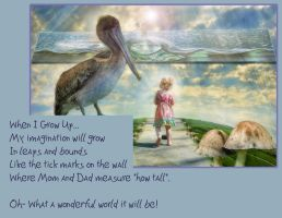 My Imagination Will Grow Card by amethystmoonsong