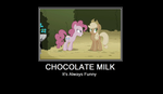Chocolate Milk Demotivational Poster by Awkward-Sword