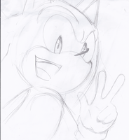 Sonic Quick Sketch by OctoberReign