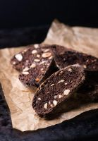Dark chocolate biscotti with nuts by BeKaphoto