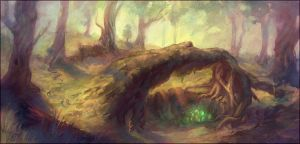 Nest of the Earth Drake by Andantonius