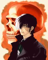 Black Jack with a skull by Bunkosu