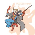 Harry Potter and Spiderman Cartoon Mashup by artmonkeyd