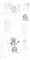 2014 Character Design Nekku Sketches by FrostheartIsSiamese