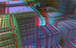 The City - No Map Anaglyph by skyzyk