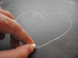 Heart made from Chalk by KataQueen