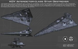 KDY Interdictor-class Star Destroyer ortho [New] by unusualsuspex
