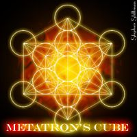 Sacred Geometry Metatrons Cube by TetraChromaticArt