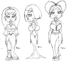 Zombie Girl Sketches 4 by Gummibearboy