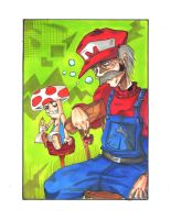 Mario et Toad by o0Straw-Berry0o