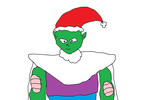Piccolo with Santa hat by Simpsonsfanatic33