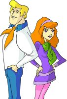 Mystery Inc. Fred and Daphne by ccootttt