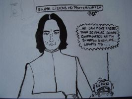 Snape listens to Potterwatch by Pepper-H