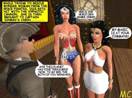 A Hypnotized Wonder Woman Brings Isis To Sinbad by The-Mind-Controller