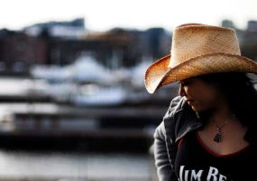 Cousin Kat an Cowboy hat by Utilikiltarian