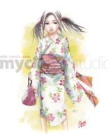 Yukata Girl 3 by MyCKs