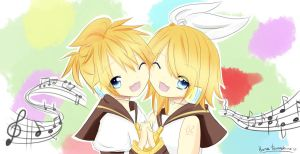 Kagamine twins by KoNaChan95
