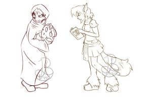 SGN sketches- Bianca and Elora by Gustybv