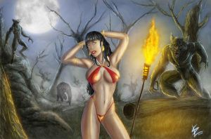 Vampirella in the moonlight by Dark-thief