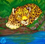 Lounging Leopards - by TaksArt