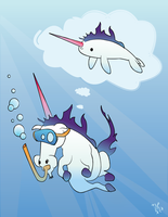 Unicorn of the Sea by rhinestoner