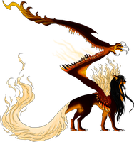 Helion Dragon Form by BlackChaos666