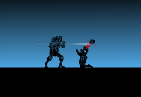 TF2: Demo-bot x Soldier ( Wallpaper ) by Bielek