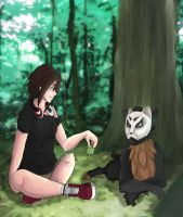 Relaxing in forest by Ashuo