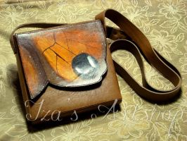 Butterfly Leather Pouch by izasartshop