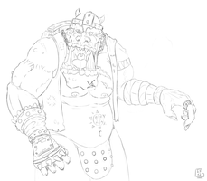 Orc lineart by Gela-G-I-S-Gela